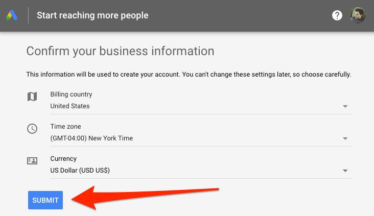 """เลือก """"Submit"""" ในหน้าถัดไป ซึ่ง Google ไม่ได้เก็บเงินค่าใช้บริการ"""