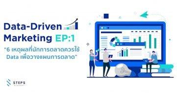 """Data-Driven Marketing Ep: 1 """" 6 เหตุผลที่นักการตลาดควรใช้ Data เพื่อวางแผนการตลาด """""""