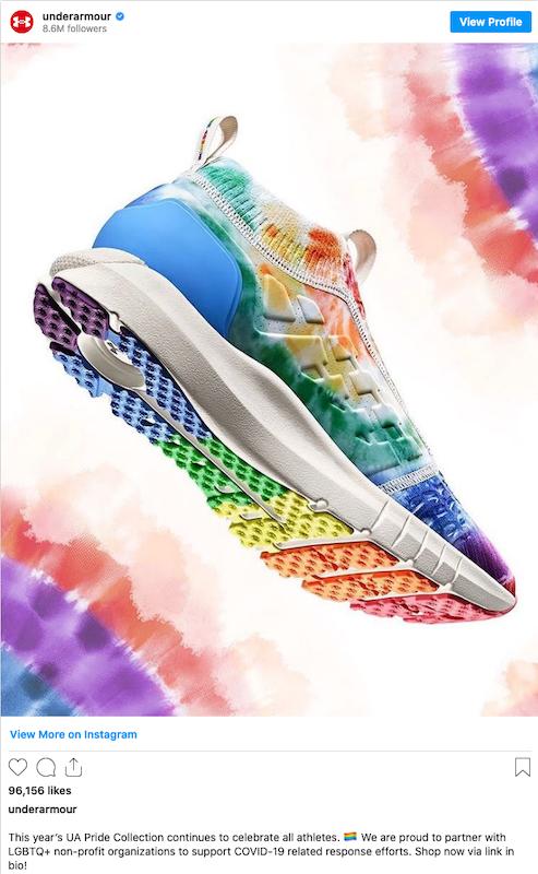 แบรนด์รองเท้า เสื้อผ้า และ อุปกรณ์กีฬาชื่อดังอย่าง Under Amour ได้สร้างแคมเปญ The Pride Collection เพื่อสนับสนุน LGBTQ+ Community